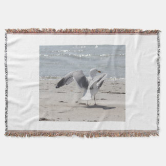 Seagull photography throw blanket