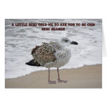 Seagull Ring Bearer Request Card