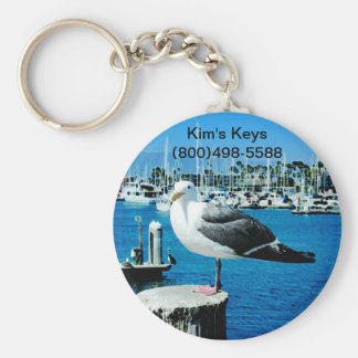 Seagull Shores Basic Round Button Keychain