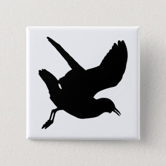 Seagull Silhouette Button