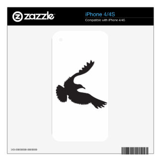 Seagull Silhouette Decals For iPhone 4