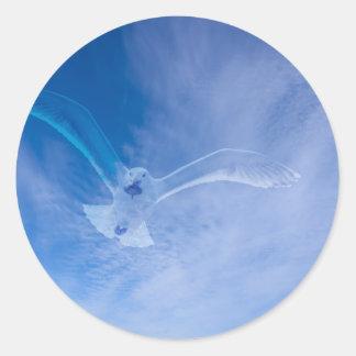 Seagull Soaring Classic Round Sticker