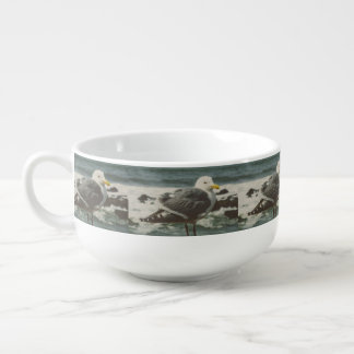 Seagull Soup Bowl With Handle