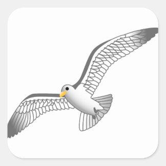 Seagull Square Sticker