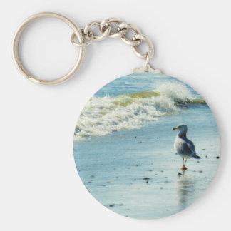 Seagull Stroll Basic Round Button Keychain