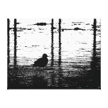 Seagull Under The Pier Stretched Canvas Prints