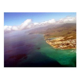 Seagull View of Honolulu in Oahu Postcard