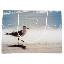 Seagull Walking on Virginia Beach Large Gift Bag