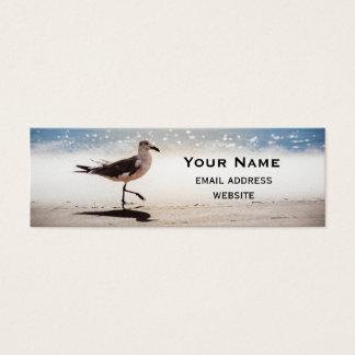 Seagull Walking on Virginia Beach Mini Business Card
