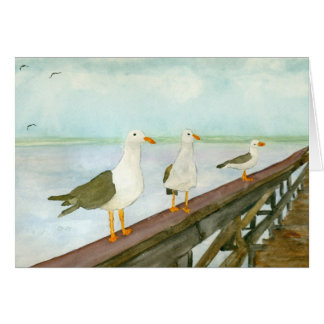 Seagull Watercolor Stationery Note Card