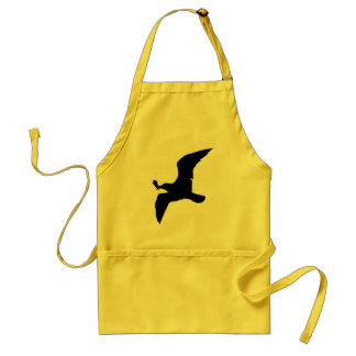 Seagull With Icecream Adult Apron