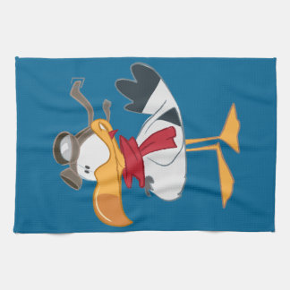 SEAGULL WITH PILOT GOGGLES KITCHEN TOWEL