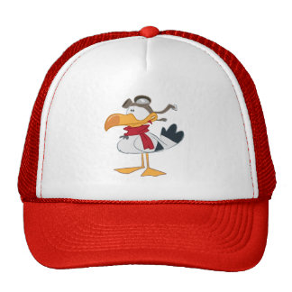 SEAGULL WITH PILOT GOGGLES TRUCKER HAT