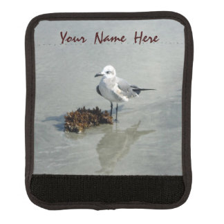 Seagull with Seaweed Personalized Luggage Handle Wrap