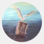 Seagull: www.AriesArtist.com Round Sticker