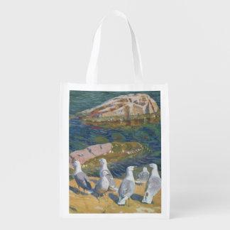 Seagulls, 1910 reusable grocery bag