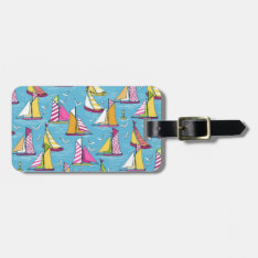 Seagulls And Sails Springtime Bag Tag at Zazzle