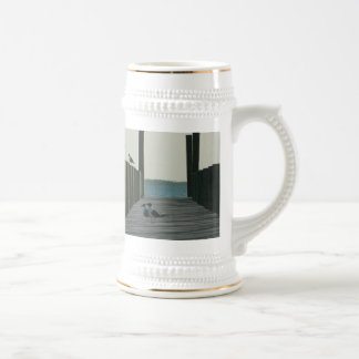 Seagulls and Sunset on The Docks Beer Stein