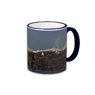 Seagulls and Surf Ringer Coffee Mug
