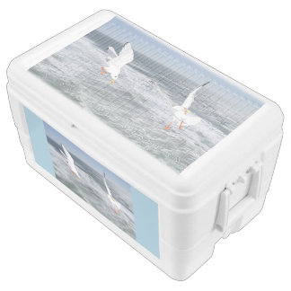 Seagulls And Waves Ice Chest
