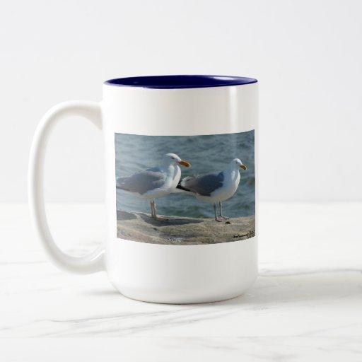 Seagulls at Barnegat Inlet mug