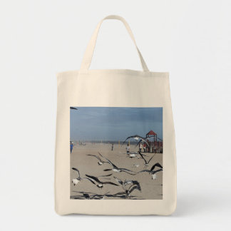Seagulls Birds on Coney Island Beach Photo Tote Bag