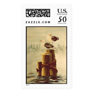 SEAGULLS by SHARON SHARPE Postage