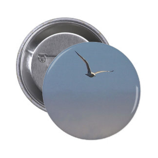 Seagulls Clouds Sky 2 Inch Round Button