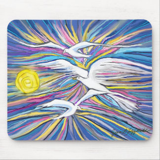 Seagulls Flying in the Sun Mouse Pad