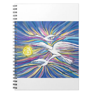 Seagulls Flying in the Sun Note Books