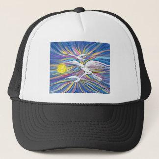 Seagulls Flying in the Sun Trucker Hat