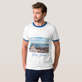 Seagulls flying over the bay T-Shirt