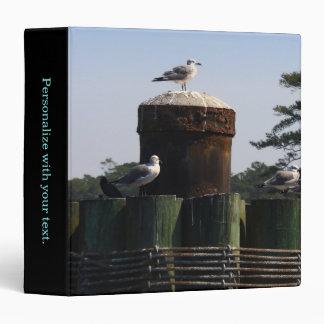 Seagulls - Fort Fisher, North Carolina 3 Ring Binder