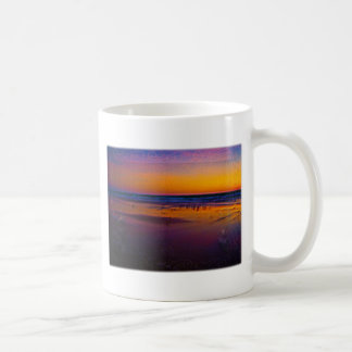 Seagulls Frolicking & Flying During Dawn on Beach Coffee Mug
