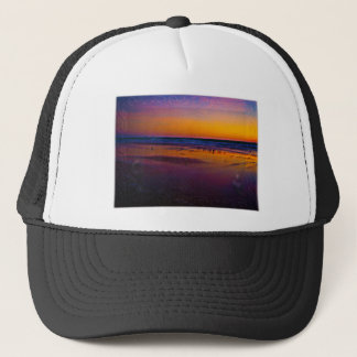 Seagulls Frolicking & Flying During Dawn on Beach Trucker Hat