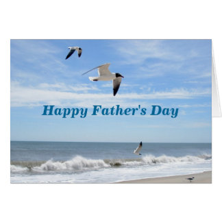 Seagulls Happy Father's Day Card