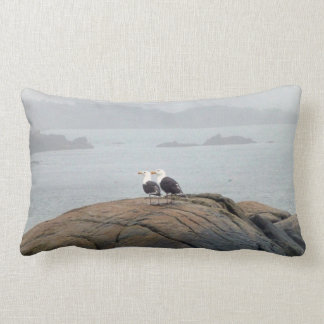 Seagulls in Kennebunkport, Maine Lumbar Pillow