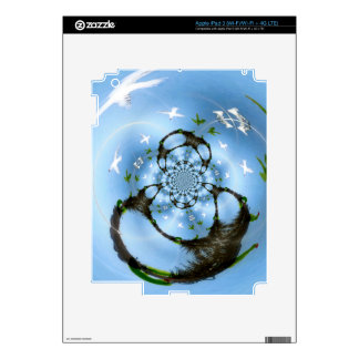Seagulls in Paradise Abstract Birds iPad 3 Decal