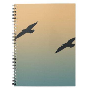 Beach Themed Seagulls Notebook