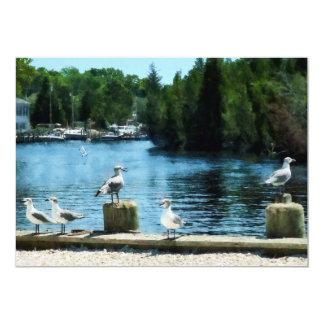Seagulls on Pier Card
