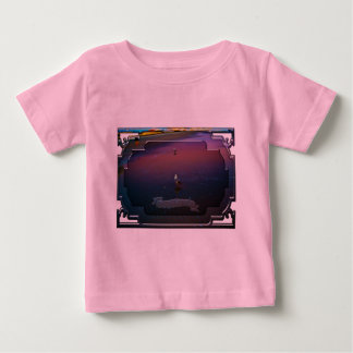 Seagulls on pink and blue waters edge t-shirt