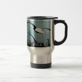 Seagulls Over City Travel Mug