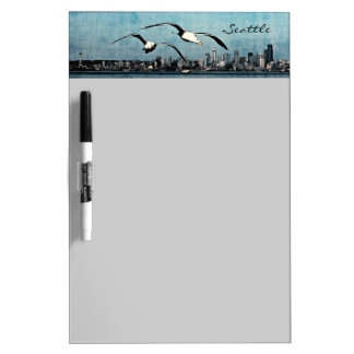 Seagulls Over Seattle Dry Erase Board