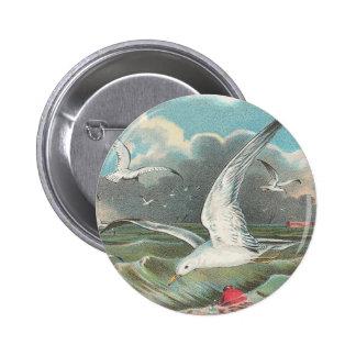 Seagulls Pinback Button