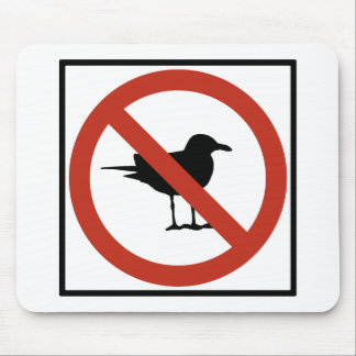 Seagulls Prohibited Mouse Pad