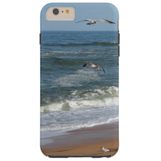 Seagulls Soaring over Waves Rolling onto a Beach Tough iPhone 6 Plus Case