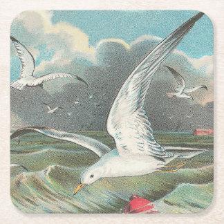Seagulls Square Paper Coaster
