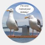 seagulls talking round sticker