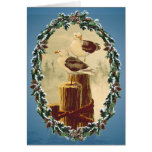 SEAGULLS & WREATH by SHARON SHARPE Greeting Cards