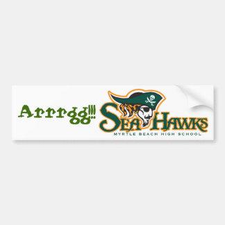 "Seahawk ""Arrgg!!!"" Bumper Sticker"